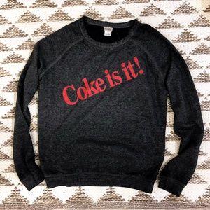 """COCA COLA """"Coke Is It!"""" Long Sleeves Sweatshirt"""